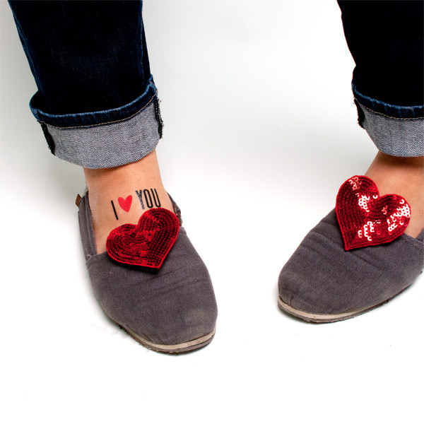 Tattly I Heart You Tattoo with Shoes