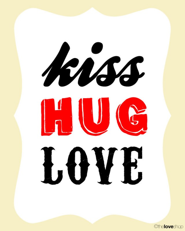 Kiss Hug Love by TheLoveShop