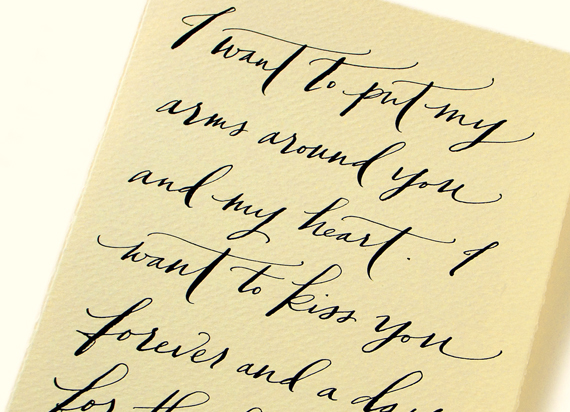 Your Words Beautifully Hand Written Love Letter Transcriptions By