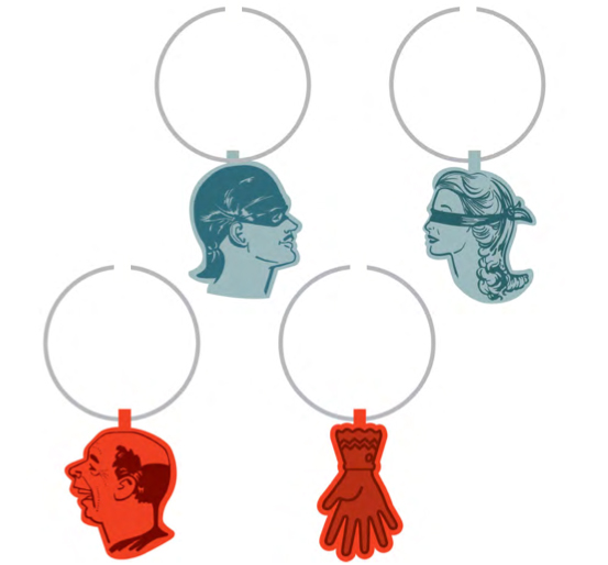 Bottle of Wits Wine Glass Charms by Alamo Drafthouse