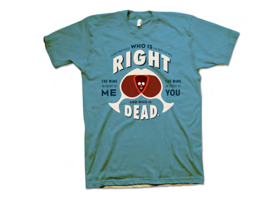 Who is Right, and Who is Dead Bottle of Wits T-Shirt