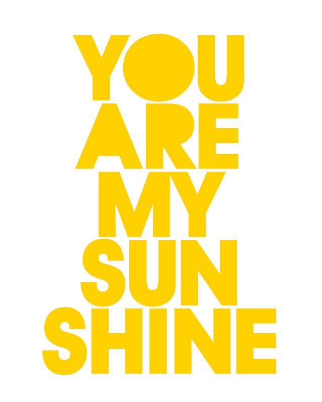 You Are My Sunshine by TheLoveShop