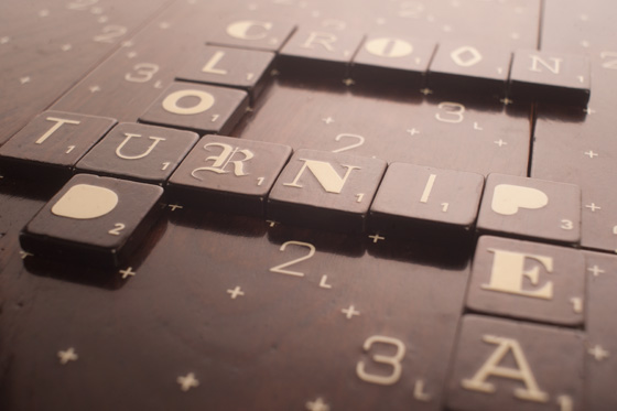 Scrabble Typography Edition tiles detail