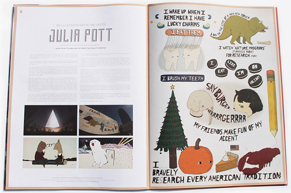 Wrap Issue 4, Julia Pott spread