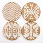 Mojave Cork Letterpress Coasters