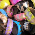 Hand Stained and Painted Wood Bangles by Voz