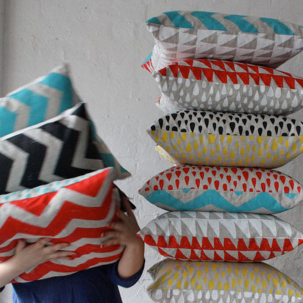 Totem Collection Cushion Covers by Harvest Textiles