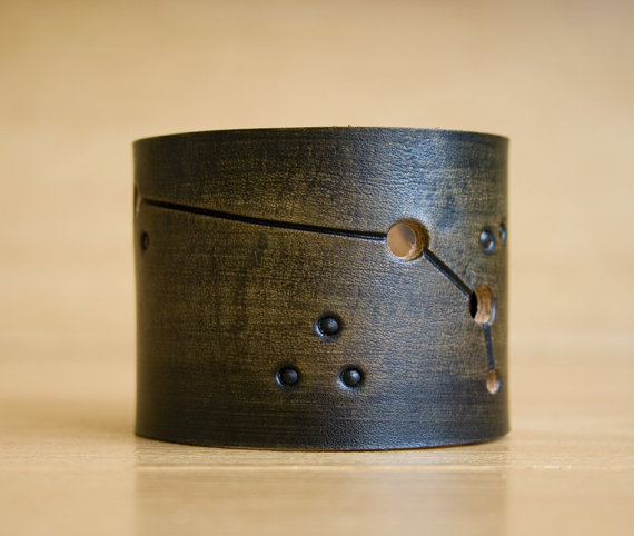 Mens Leather Aries Cuff