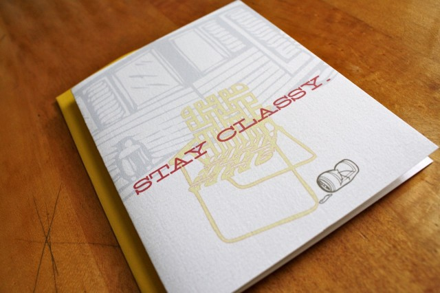 Stay Classy Card by Colette Paperie