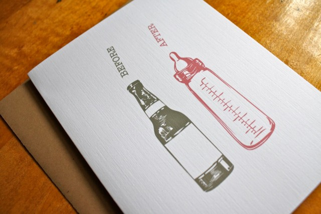 Before & After Bottles Card by Colette Paperie