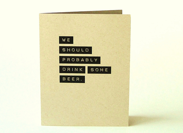 Thinking of You Beer Card by Cool Jane