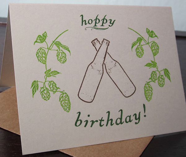 Hoppy Birthday Card by Two Guitars