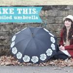 Make this Gift! DIY Stenciled Umbrella