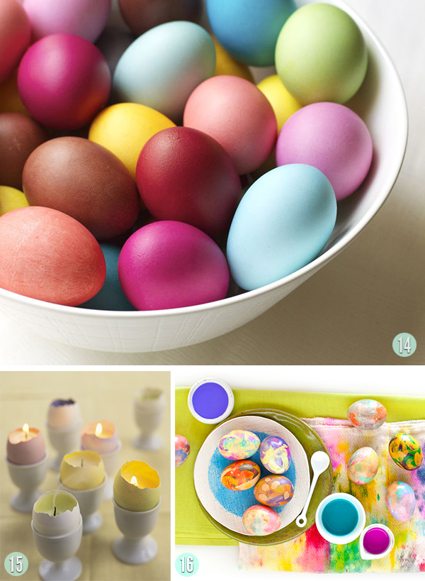 RIT dyed eggs, Candle eggs and painted egg