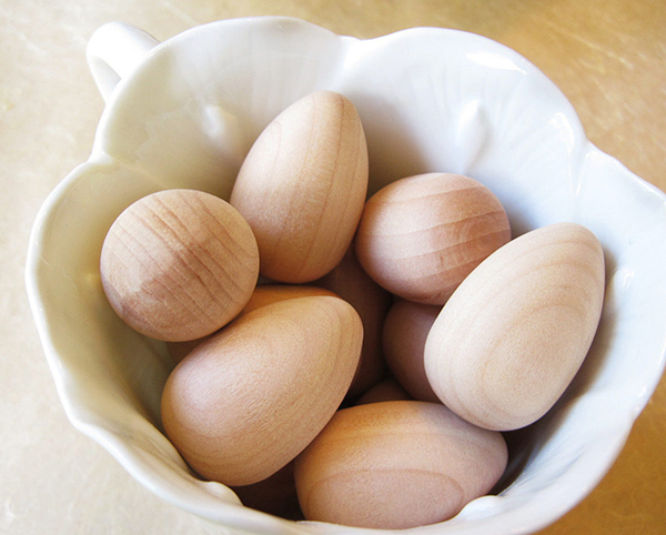 Wooden Eggs from Wrapworks