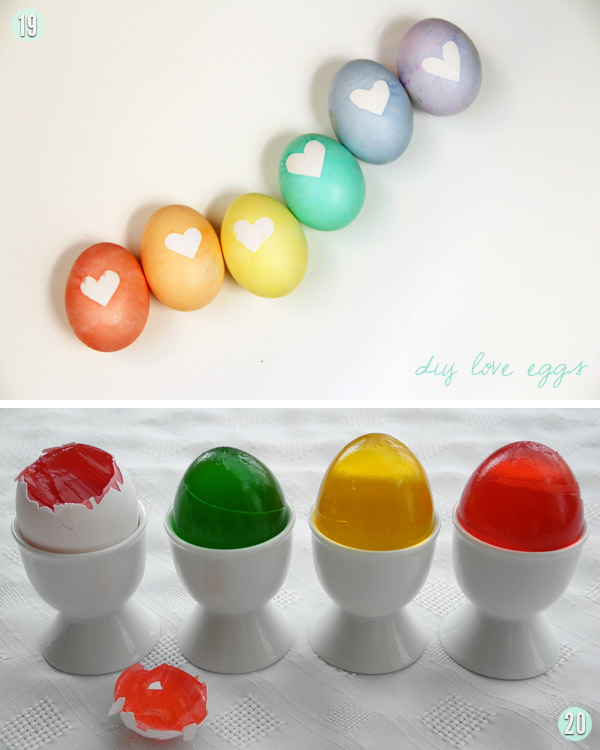 Love Eggs and Jello Eggs
