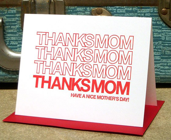 Thanks Mom Bag Card by a.favorite