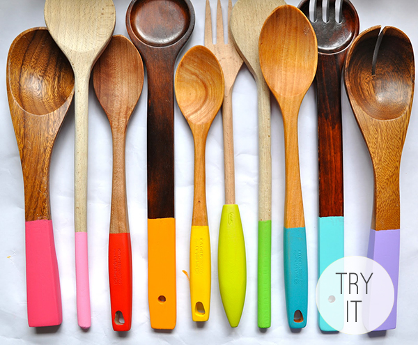 Painted Wooden Spoons by Little Bit Funky