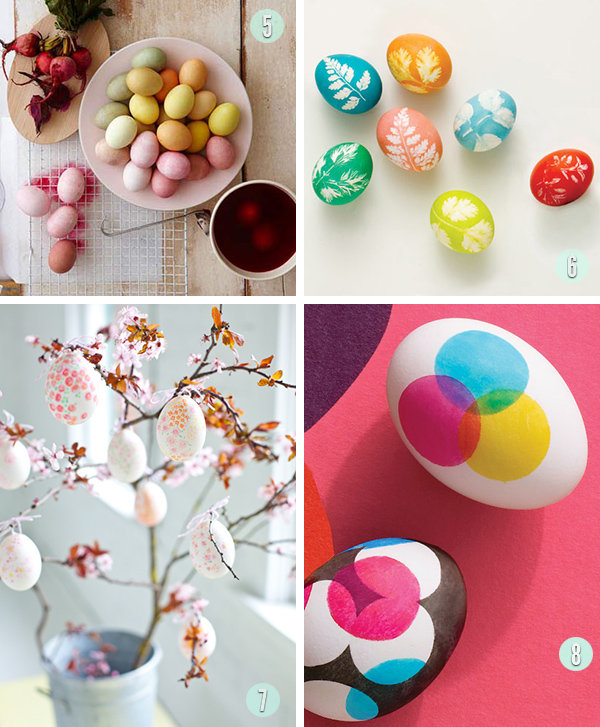 Natural Easter Egg diys and dots