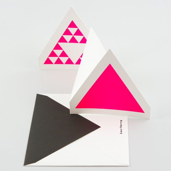 Pink Triangle Card from Lox+Savvy