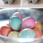 Polka dot eggs and Ombre eggs