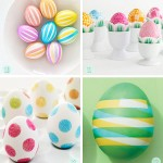 Washi Tape and double-stick Tape Easter Eggs diys