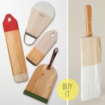 Colorblocked Cutting Boards by Lostine & Dipped Wood Knife Block