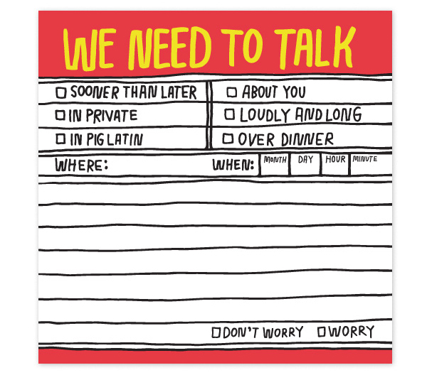 Hand-Lettered Notes by Kate Bingaman Burt and Knock Knock: We Need To Talk