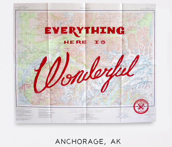Wonderful Silk Screened Maps by Best Made Company - Anchorage