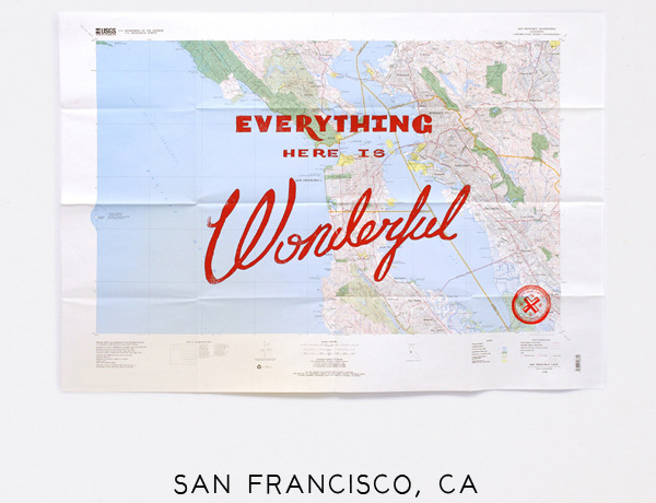 Wonderful Silk Screened Maps by Best Made Company - San Francisco