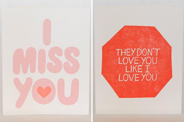 Neon + Love cards by Ashkahn
