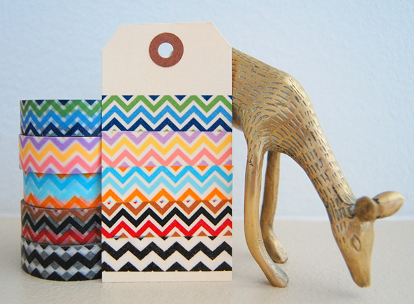 Chevron Washi Tape from Freckled Fawn