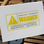 Consider Yourself Warned Card by Flywheel Press