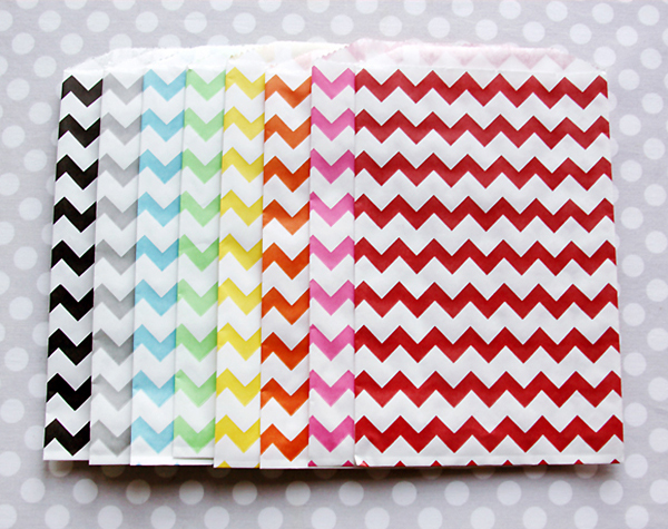 Chevron Favor Bags from Shop Sweet Lulu