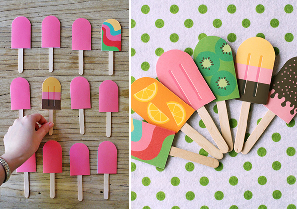 DIY Paper Popsicle Memory Game by Eat Drink Chic