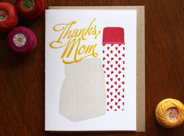 Thanks Mom Mother's Day Card by Printerette Press