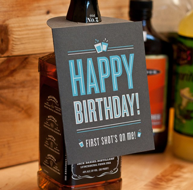 Shot Glass Birthday Card by 55 Hi's