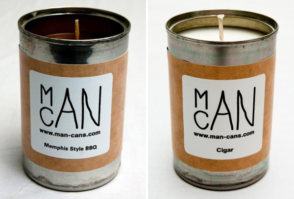 ManCans Memphis Style BBQ and Cigar candles