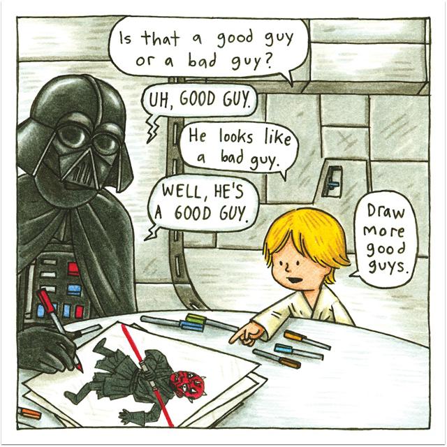 Darth Vader and Son - bad guy drawing