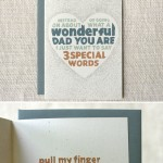 Pull My Finger Father's Day card by Wit & Whistle