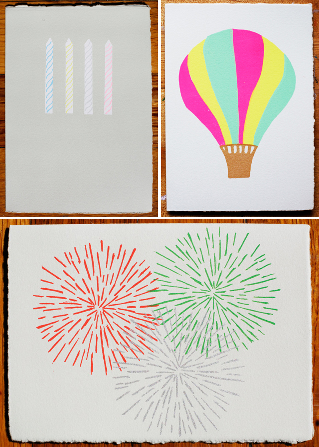 Summer Cards by Gold Teeth Brooklyn - Candles, Balloon, Fireworks