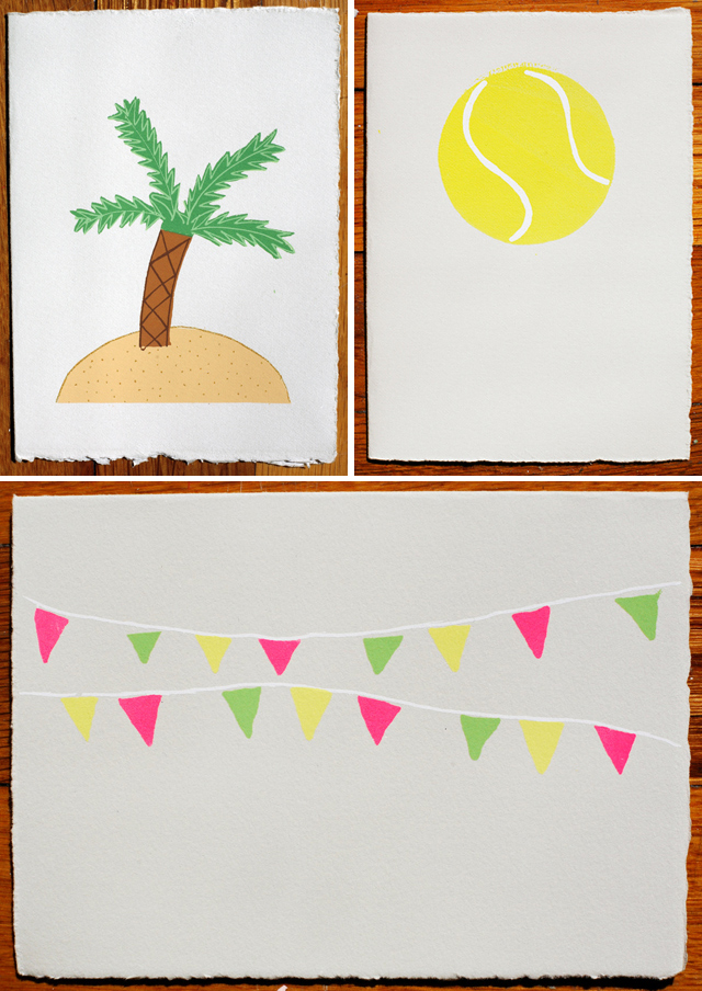 Summer Cards by Gold Teeth Brooklyn - Palm, Tennis, Flags