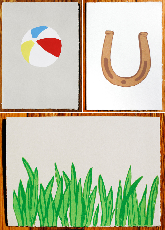Summer Cards by Gold Teeth Brooklyn - Beach Ball, Horseshoe, Grass