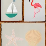 Summer Cards by Gold Teeth Brooklyn - Boat, Flamingo, Shells