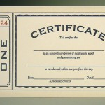 Certificate Note by Oblation Papers & Press