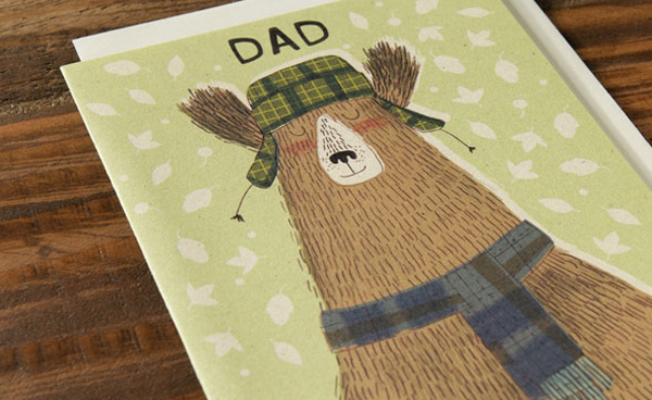 Dad Card by Kate Hindley for Red Cap Cards