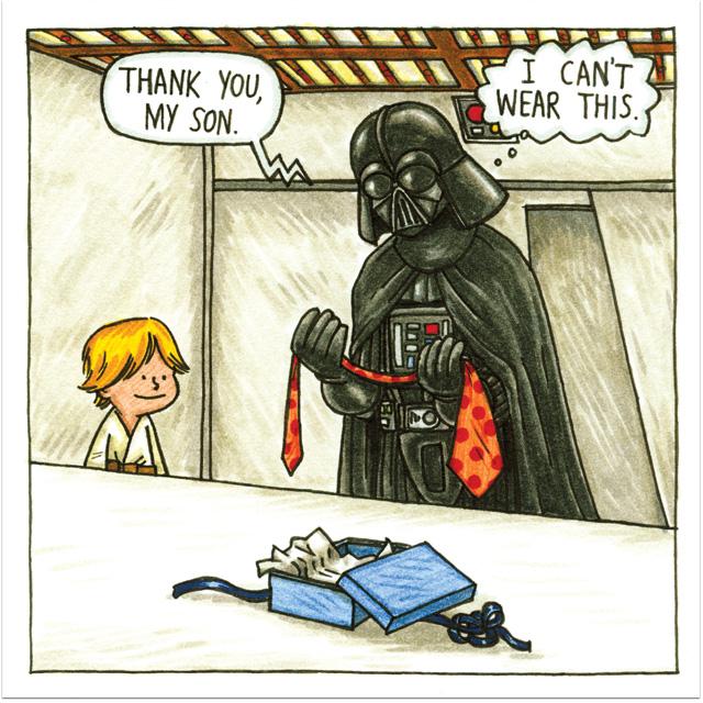 Darth Vader and Son - tie problem