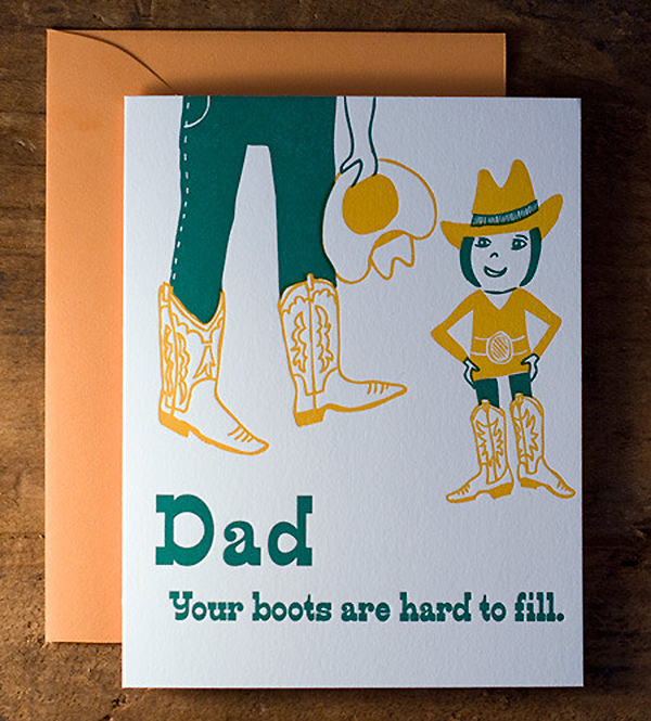 Father/Daughter Card by Wildhorse Press