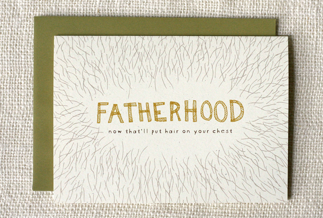 Chest Hair Father's Day card by Wit & Whistle