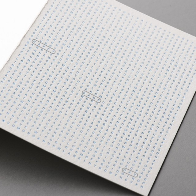 Word Search Card from W+K Studio